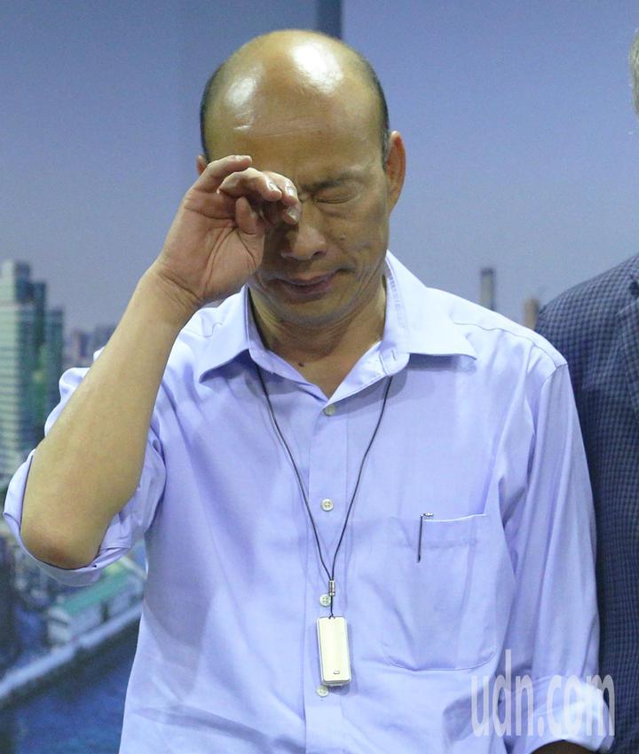 高雄市長韓國瑜面露疲態。記者劉學聖/攝影