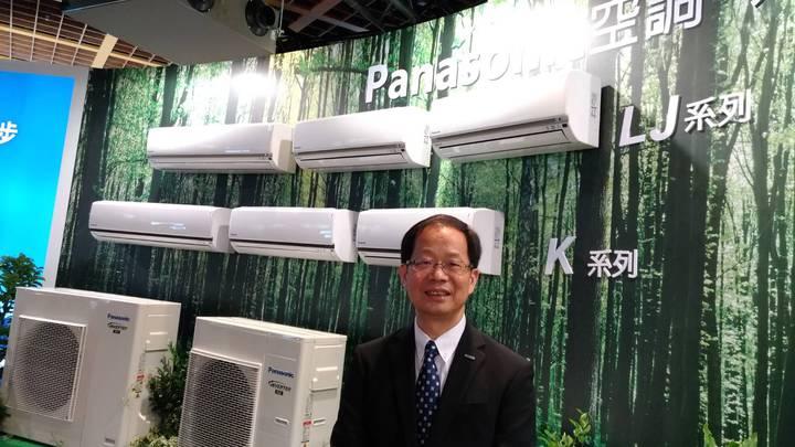 家電大廠台灣松下舉行「2019年全領域空調專家Panasonic新產品發表會」,主持發表會的台松電器販賣總經理許國士表示,目標今年空調銷售目標預計達20萬台以上,有二位數成長,市場佔有率逾二成。記者張義宮/攝影
