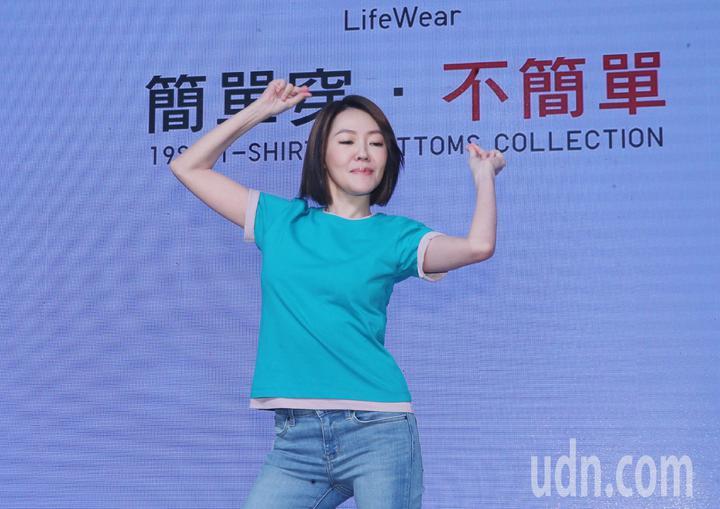 小S今天下午出席UNIQLO「簡單穿‧不簡單」日常風格穿搭提案發表會,擔任「簡單不簡單風格大使」。記者徐兆玄/攝影