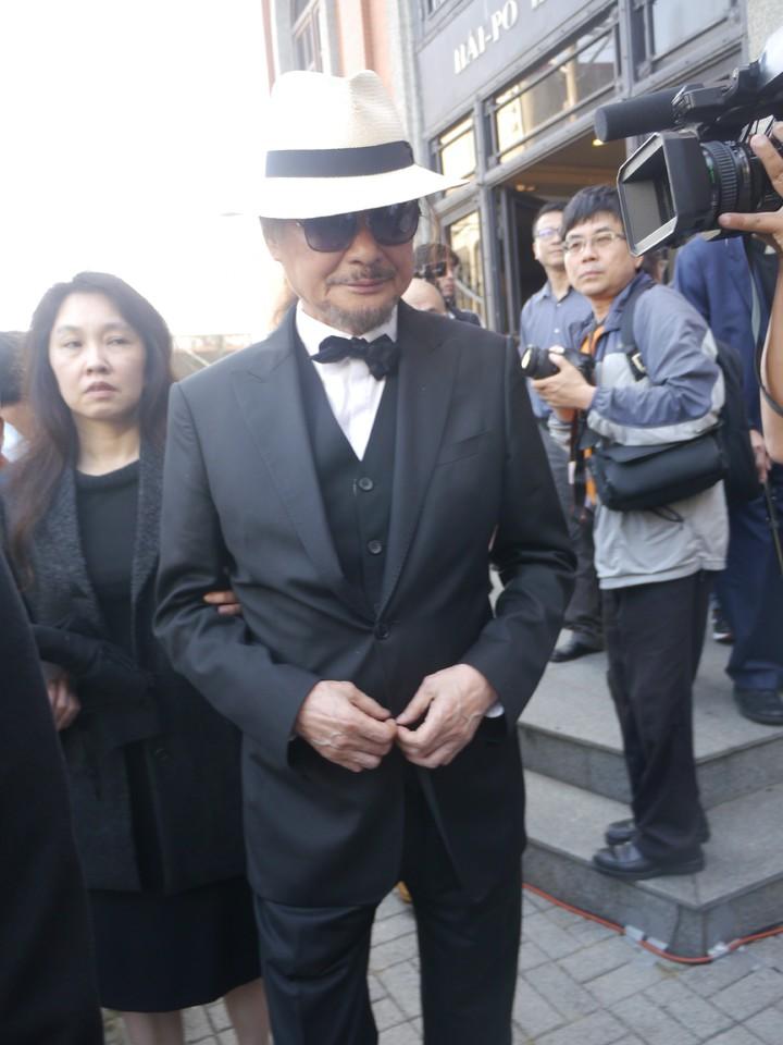 前民進黨主席施明德稱高俊明留下台灣最美的身影。記者徐白櫻/攝影