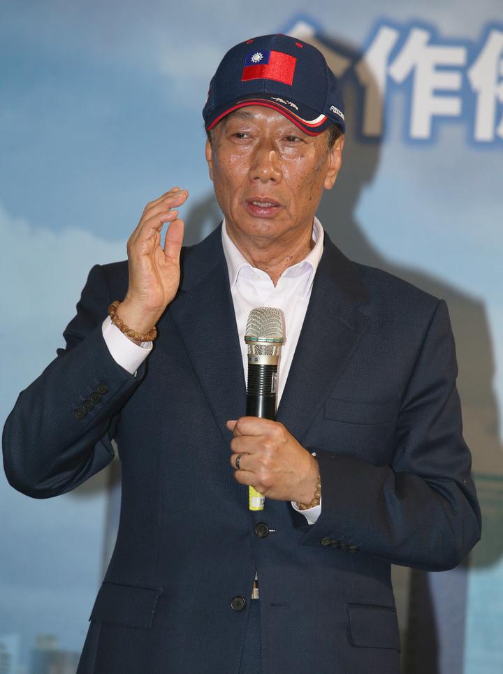 鴻海集團總裁郭台銘強調未來會大力投資高雄。記者劉學聖/攝影