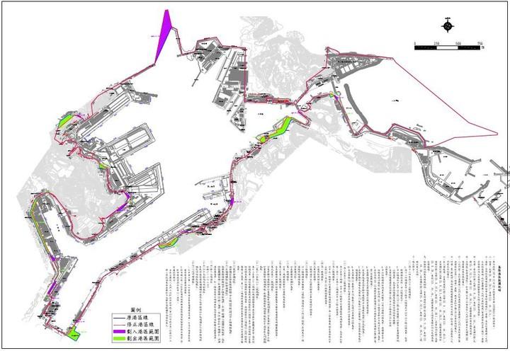 東岸正濱漁港與中正路間港埠用地被劃出去,給市府劃風景特定區使用,可以做民宿,它就在色彩屋附近,舊漁會那邊。圖/基隆市政府提供