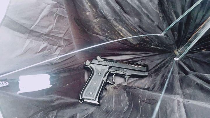 警方搜到犯案槍枝。記者林昭彰/攝影