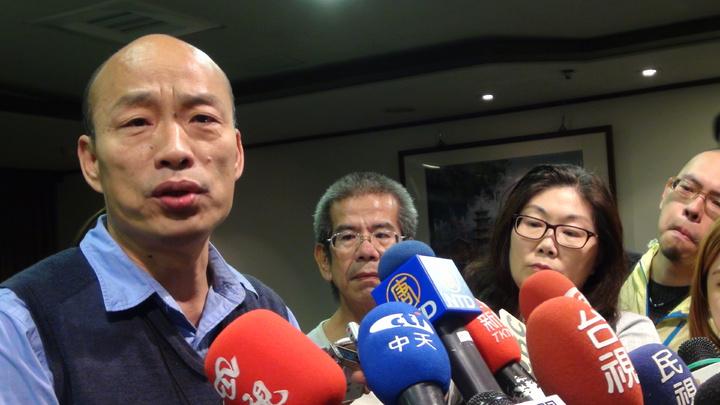 韓國瑜說,國民黨的人要非常警惕,民進黨不會分裂。記者謝梅芬/攝影