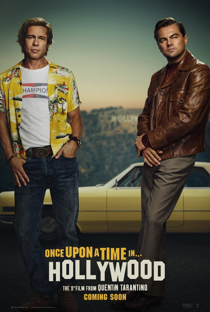 「從前,有個好萊塢…」(暫譯)備受各方期待,但兩位男主角是否海報上修片過頭卻引發議論。圖/双喜提供
