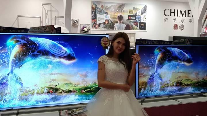 奇美推出新款86吋液晶電視售價16.9萬元,強調CP值高, 採用10.5廠最新電視面板。記者張義宮/攝影