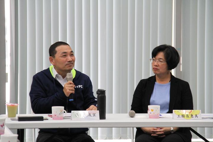 侯友宜與王惠美開交流會分享新北市的軌道建設發展經驗。