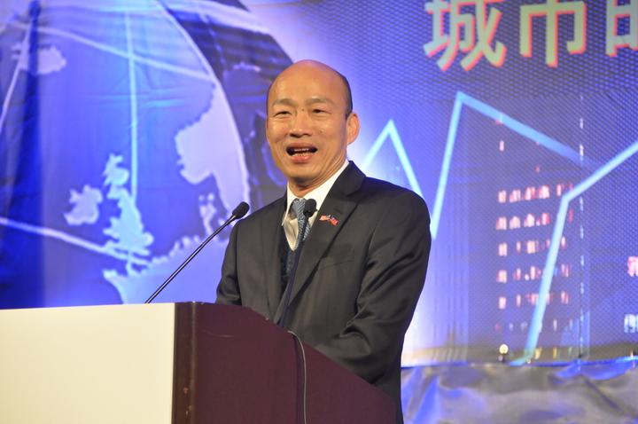 高雄市長韓國瑜訪美行壓軸是在舊金山一場3000人演講,韓妙語如珠,全場笑聲連連。記者李榮/攝影