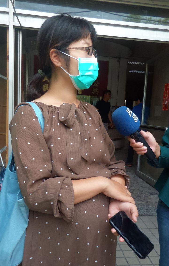 陳姓孕婦為了購家電有國家補助,不料也遭AIP跑單。記者林保光/攝影
