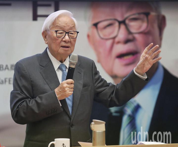 台積電創辦人張忠謀今天以「我的經營學習」為題發表演講。記者鄭清元/攝影