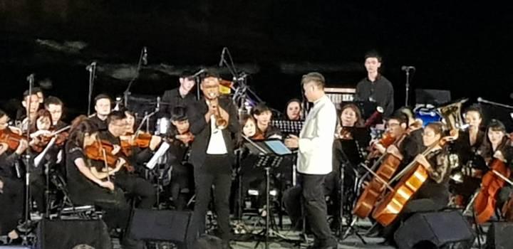 「女王音樂會」今晚登場,有張正傑&弦外之音樂團、風之香頌管弦樂團、萬芳等重量級表演者。記者游明煌/攝影