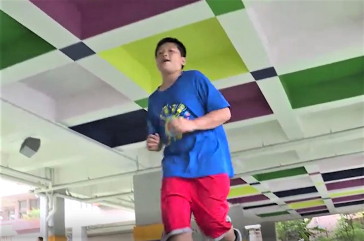基隆市中和國小畢業生汪軍愷今年考上中正預校,但他卻是在1年之內減重14公斤才考上。記者游明煌/攝影