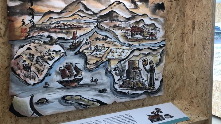 布袋五四三布袋小鎮展示所」(故事館)上午開幕,展示400年發展演變8大主題。記者魯永明/攝影