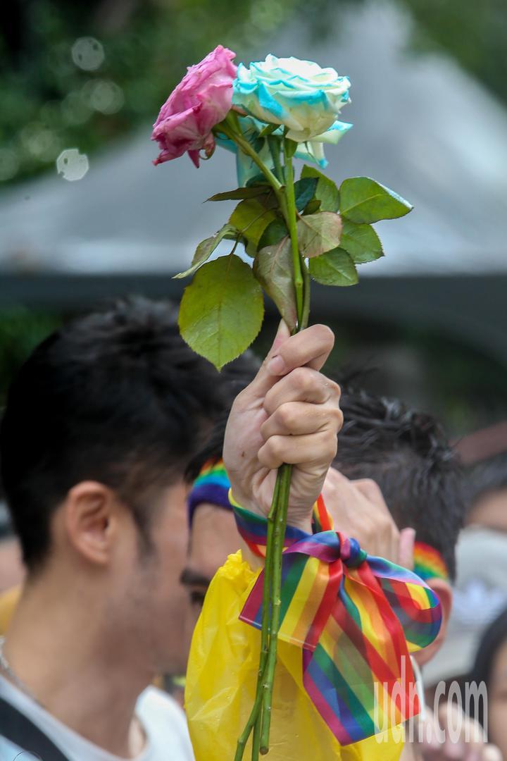 立法院下午三讀通過同婚專法,成為亞洲第一個同婚合法化的國家。記者葉信菉/攝影