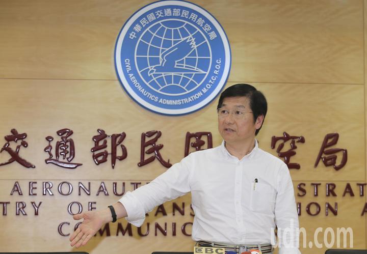 針對遠航無預警取消航班,交通部次長祁文中(圖)邀集相關單位主管共同召開記者會,宣布開會討論結果。記者許正宏/攝影