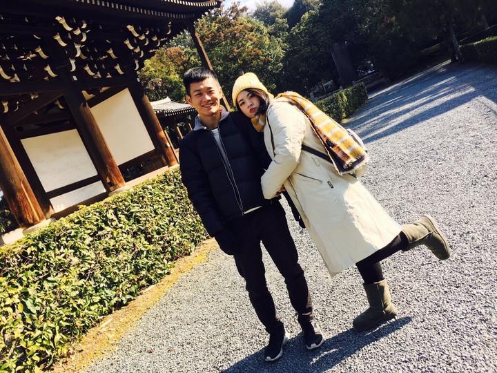「田中,我愛你」作詞者和演唱者蕭聖諺、合聲蕭雅竹是感情非常好的兄妹,都喜歡唱歌和旅遊。照片/蕭家和提供