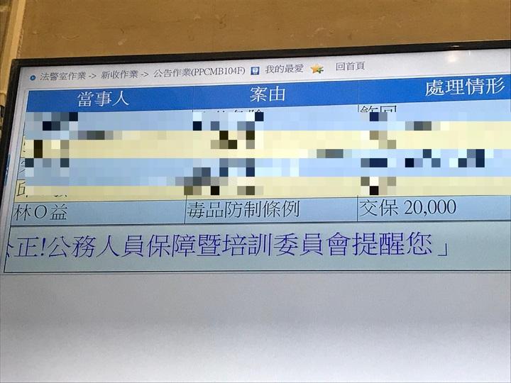 林姓警員訊後裁定2萬元交保。記者林伯驊/攝影