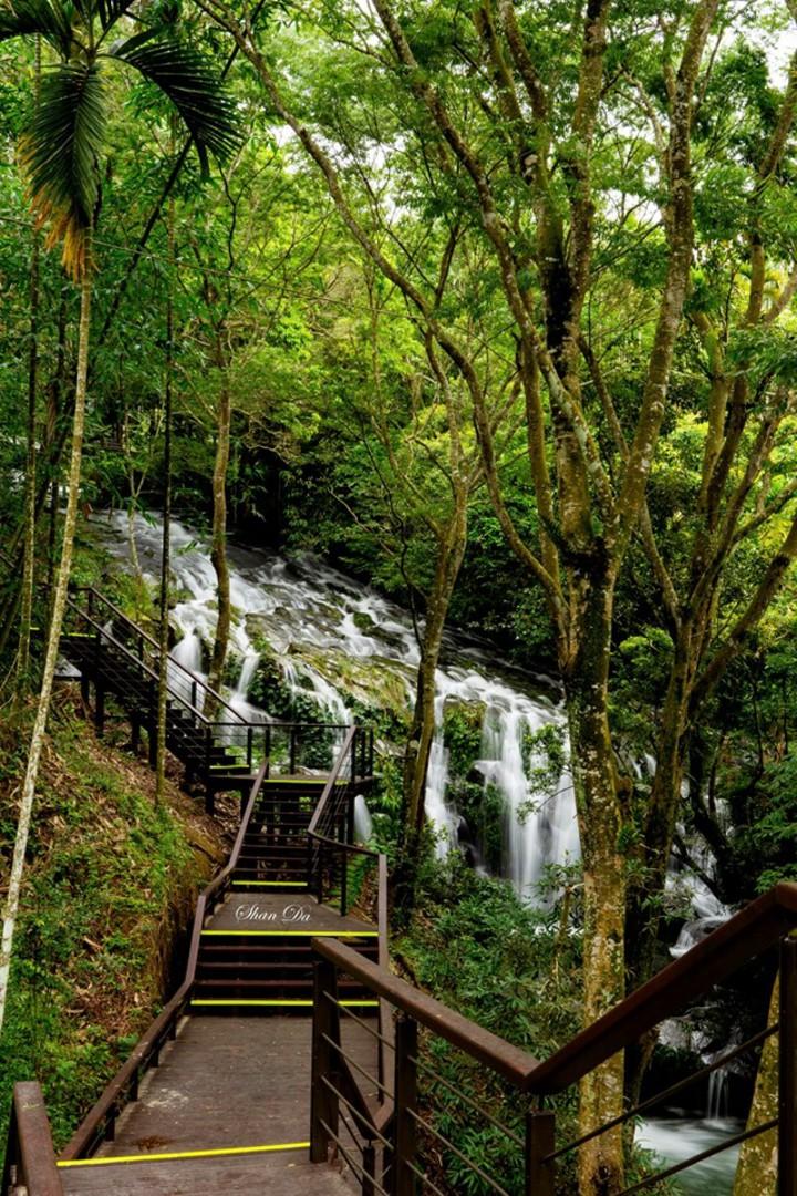 阿里山國家風景區管理處興建的步道可以賞溪。圖/陳昶達提供