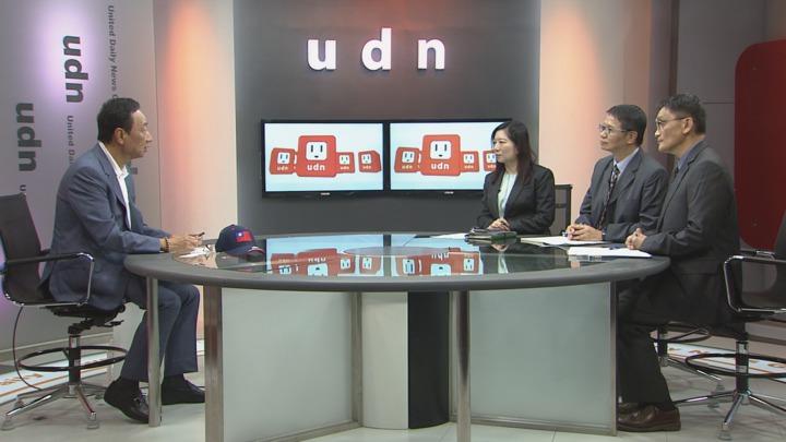 鴻海董事長郭台銘接受聯合報專訪。攝影/記者王彥鈞