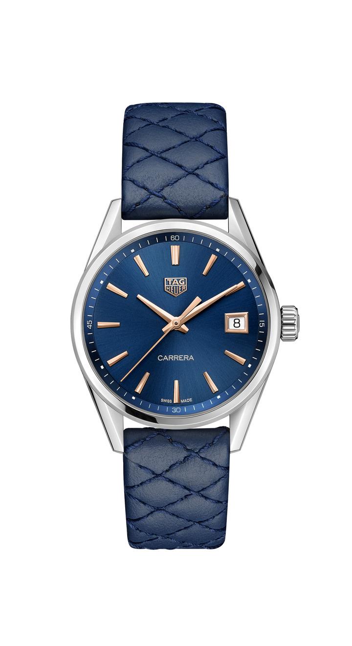 泰格豪雅Carrera Lady腕表,不鏽鋼表殼,搭載石英機芯,約60,600元。圖/TAG Heuer提供