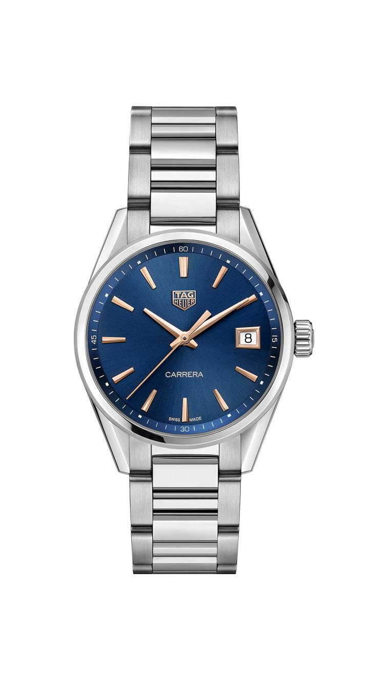 泰格豪雅Carrera Lady腕表,不鏽鋼表殼,搭載石英機芯,約65,600元。圖/TAG Heuer提供