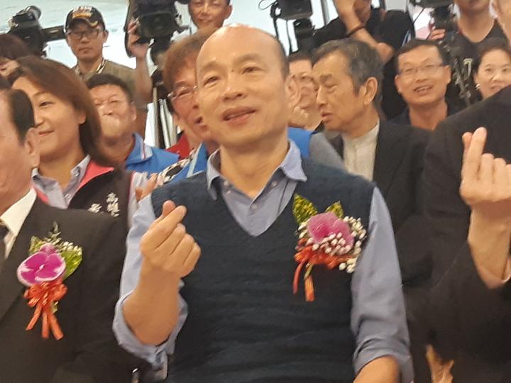 韓國瑜今聯訪時說明,名下財產大部分都是政黨補助款。記者劉學聖/攝影
