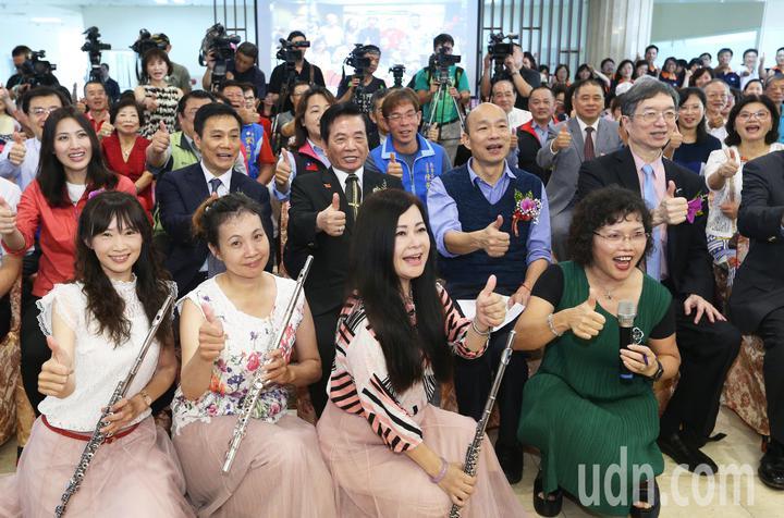 高雄市長韓國瑜今天出席燕巢靜和醫院喜苑精神護理之家開幕儀式。記者劉學聖/攝影
