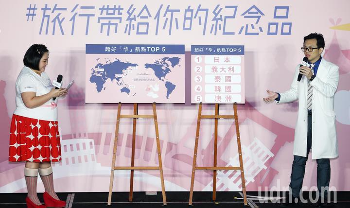 中華航空公司推出2019年全新年度品牌形象廣告「#旅行帶給你的紀念品」,並在下午舉辦首映活動,公布前五大超好孕的航點。記者杜建重/攝影