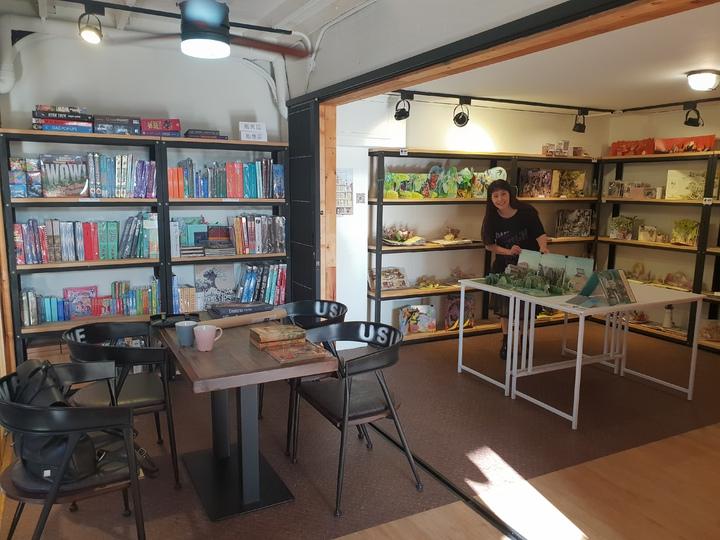 文自秀創辦亞洲首間立體書書店「We Do有度立體實驗室」。記者陳宛茜/攝影
