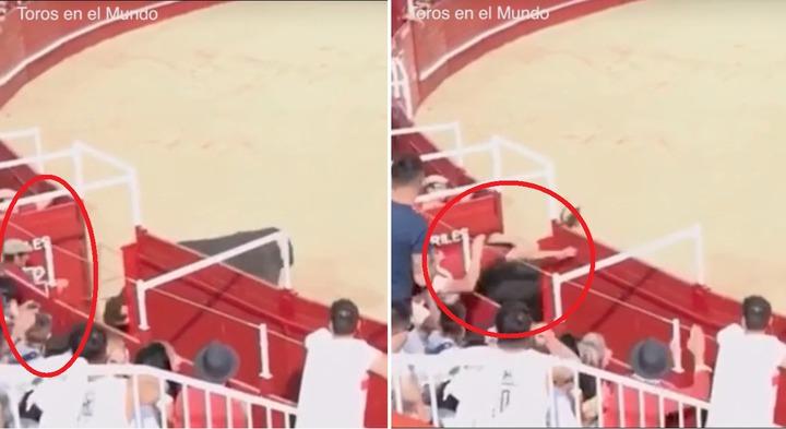 西班牙西北部薩莫拉省貝納文特市,一場鬥牛活動發生致命意外,一名60歲義工被剛出閘的公牛回頭衝撞,牛角刺穿頸部死亡,重傷不治身亡,畫面非常驚悚。圖片擷取vimeo/Toros en el Mundo影片