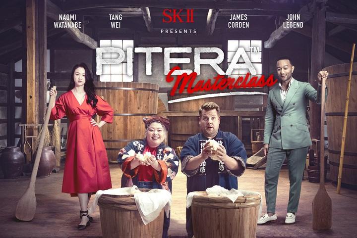 SK-II邀請大咖同匡由左至右湯唯、渡邊直美、詹姆士戈登、約翰傳奇,一同演出美妝影集。圖/SK-II提供