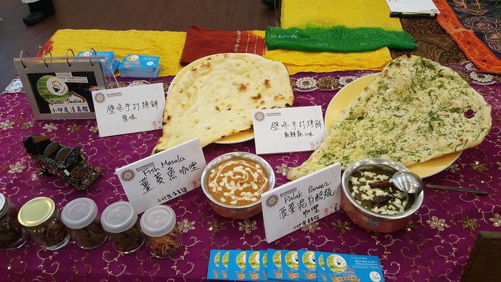 桃竹竹苗4縣市首長見證穆斯林友善旅遊環境聯盟簽署儀式,會場展示各種適合穆斯林遊客享用的美食。記者胡蓬生/攝影
