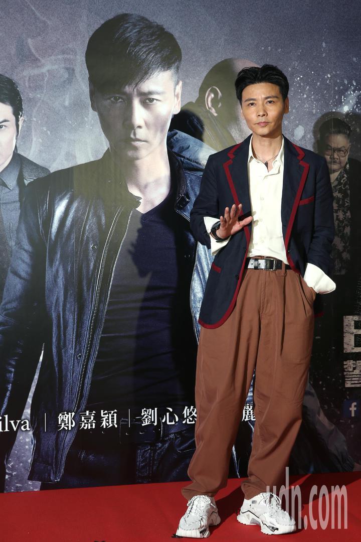 動作巨星張晉下午出席電影《九龍不敗》記者會,分享他的瘦身秘訣就是保持運動。記者蘇健忠/攝影
