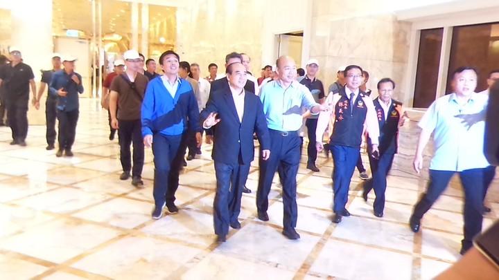 韓國瑜與王金平今晚一道參加高雄市義消餐會。記者林保光/攝影