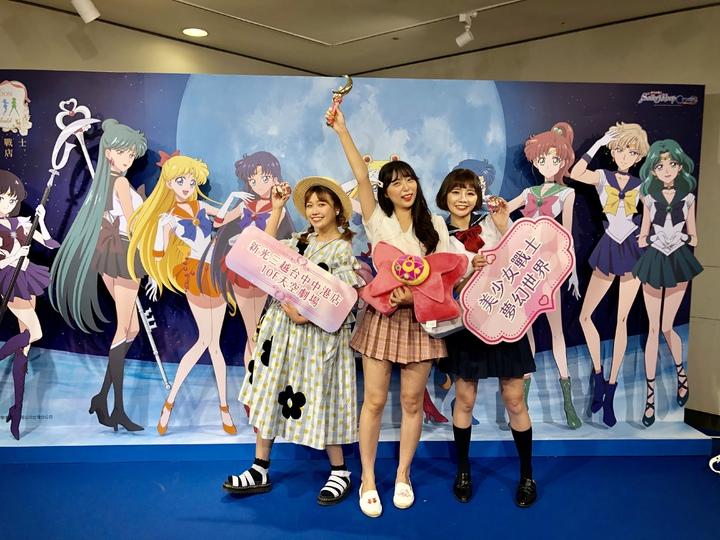 「美少女戰士夢幻世界」即日起至8月11日在台中新光三越登場,預料將颳起一場浪漫的粉紅旋風。記者宋健生/攝影