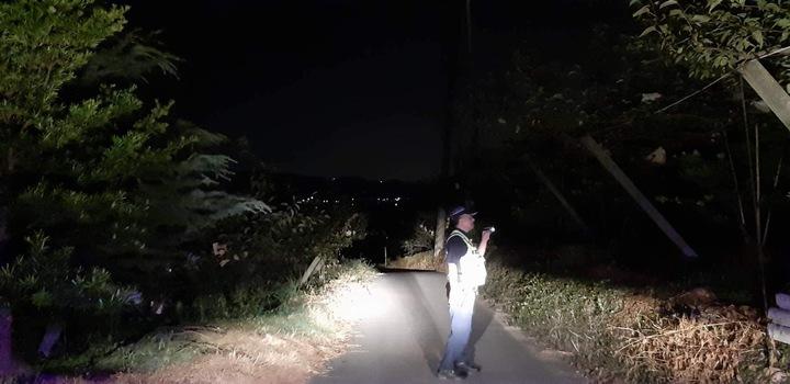 新竹縣新埔分局今年主動出擊規劃「護農勤務」,規劃綿密巡邏守望勤務,防制是類竊盜案件發生。圖/新埔警分局提供