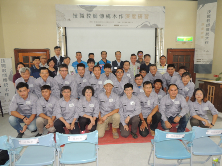 文化部文化資產局舉辦的「技職教師傳統木工深度研習」課程,今天上午在台東開訓。記者羅紹平/攝影