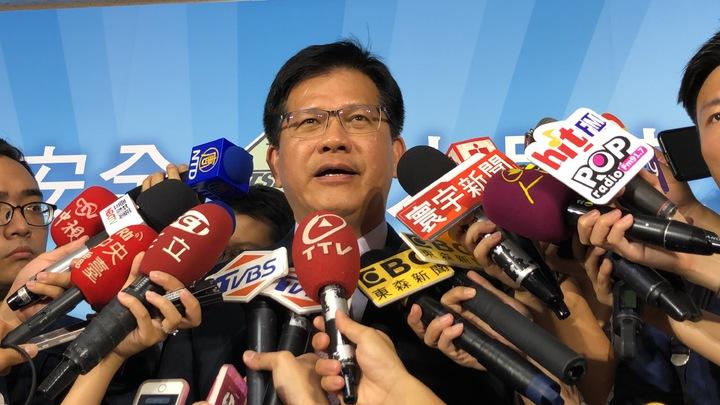 交通部長林佳龍出席運安會成立典禮。記者侯俐安╱攝影