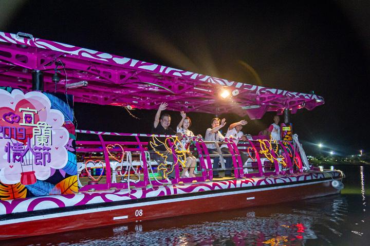 2019 宜蘭情人節明晚登場,有情人船享受浪漫。圖/宜蘭縣政府提供