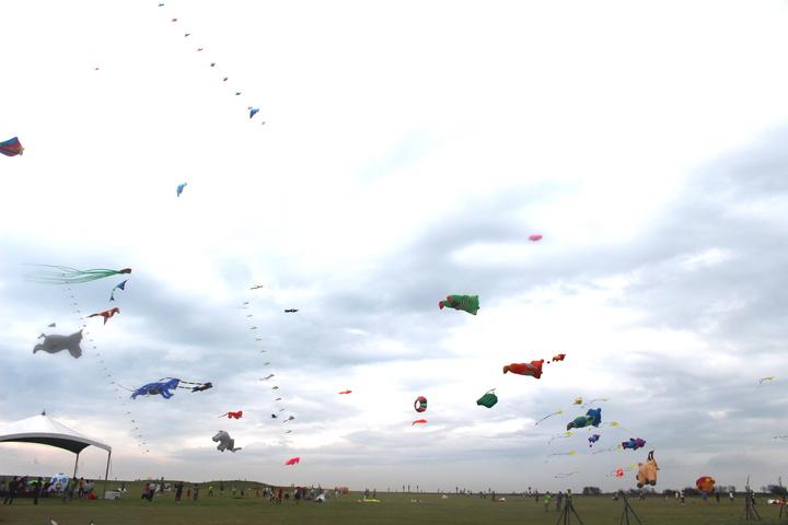 2019新竹市國際風箏節將於8月24日、25日在新竹漁港熱鬧登場,今年風箏節以動物為主題,打造空中動物園。記者張雅婷/攝影