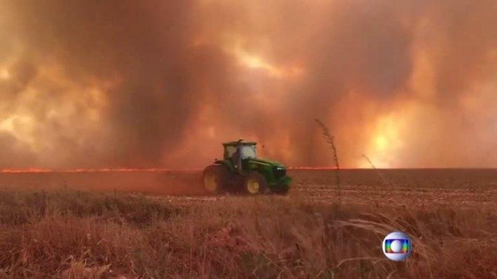 巴西太空研究所公布最新數據,顯示該國亞馬遜雨林2019年野火數量多達72843起,年成長83%,創下歷史新紀錄。路透/TV GLOBO