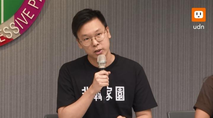 民主進步黨副秘書長林飛帆在韓直播結束後召開記者會。記者莊昭文、黃純益、任忠泰/攝影