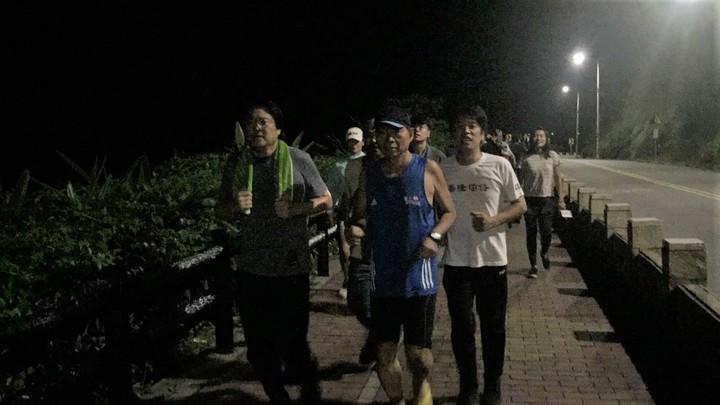 林右昌今晚外木山夜跑已瘦7公斤,下周重量訓練。記者游明煌/翻攝