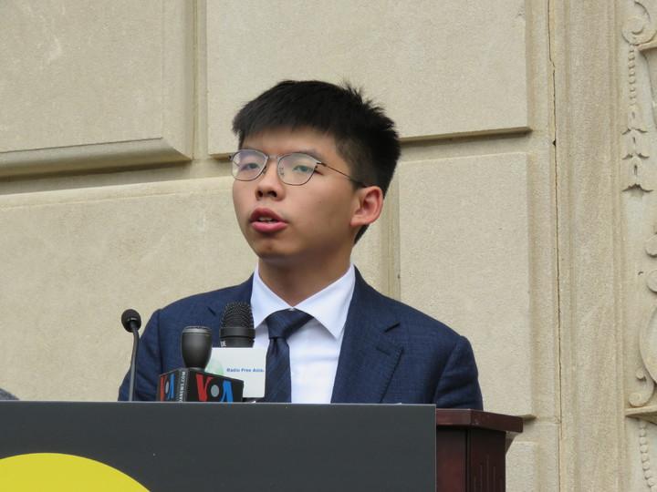 香港眾志秘書長黃之鋒訪美國華府,盼美國政府更支持香港。華盛頓記者張加/攝影