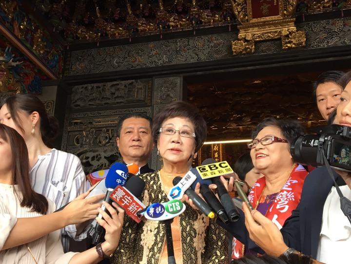 前副總統呂秀蓮接受喜樂島聯盟推薦參選2020年總統。記者周佑政/攝影