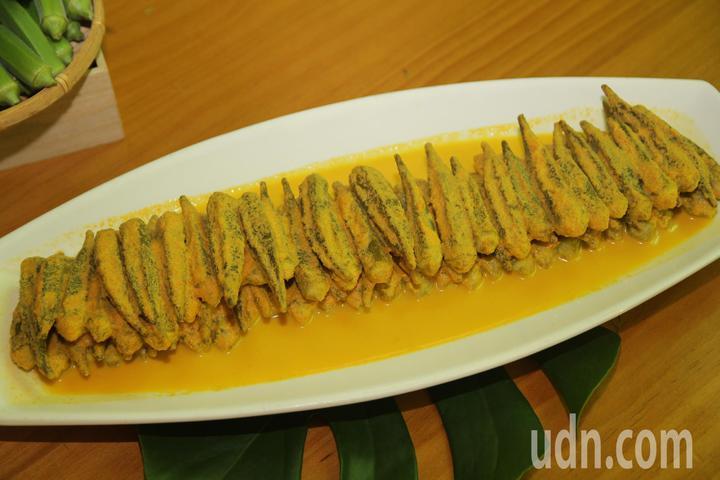 涼拌秋葵泡菜。記者魯永明/攝影