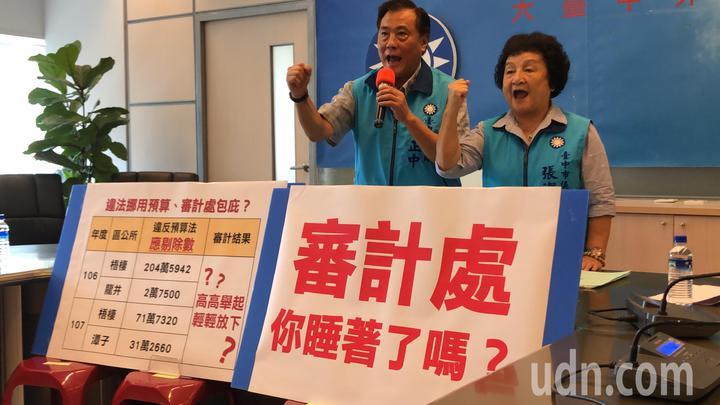 國民黨議員要求審計處針對違法預算應予剔除。記者陳秋雲/攝影