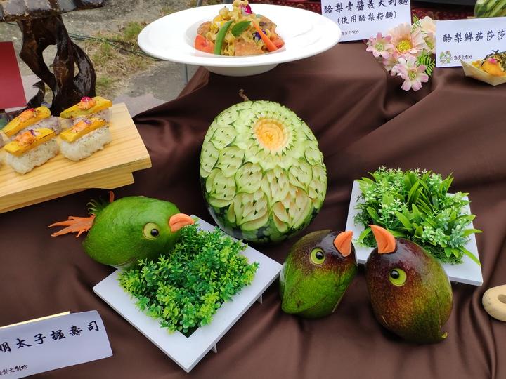 各項精緻的酪梨創意料理。記者謝進盛/攝影